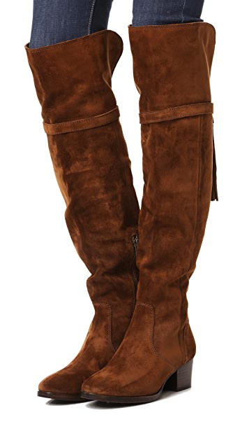 Frye Clara Tassel Over the Knee Boots