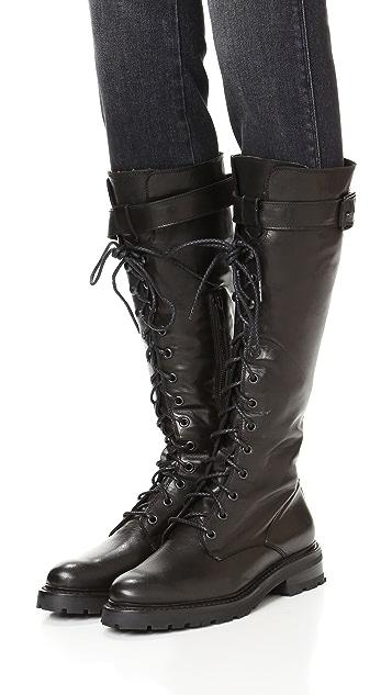 503bcadcddb Julie Lace Tall Combat Boots