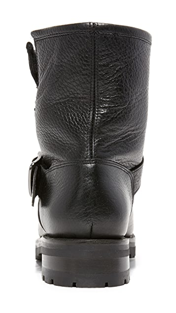 Frye Natalie Shearling Short Engineer Booties