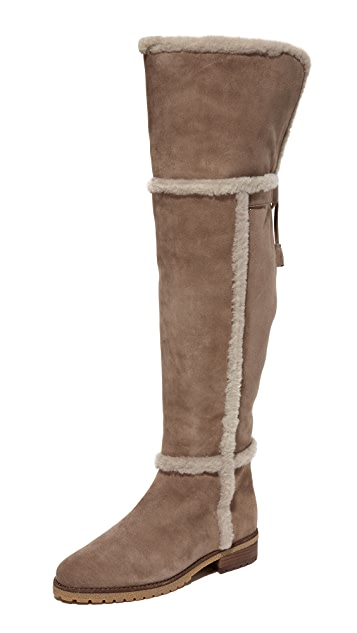 fcfb3a1af59 Frye Tamara Shearling Over The Knee Boots