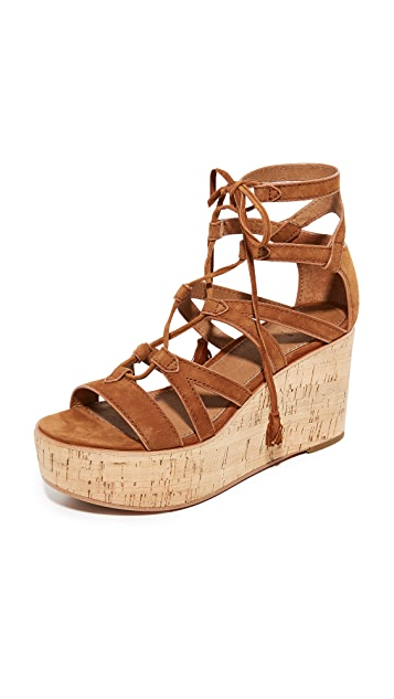 6a5fa2bf721 Heather Gladiator Wedges
