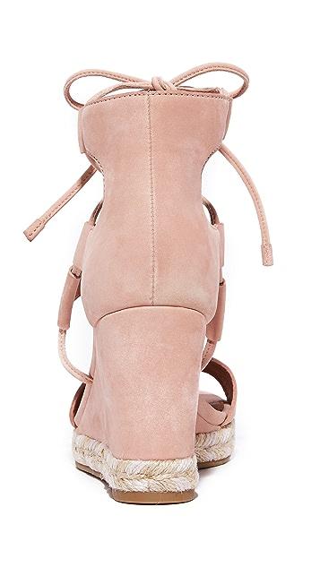 Frye Roberta Ghillie Wedge Sandals