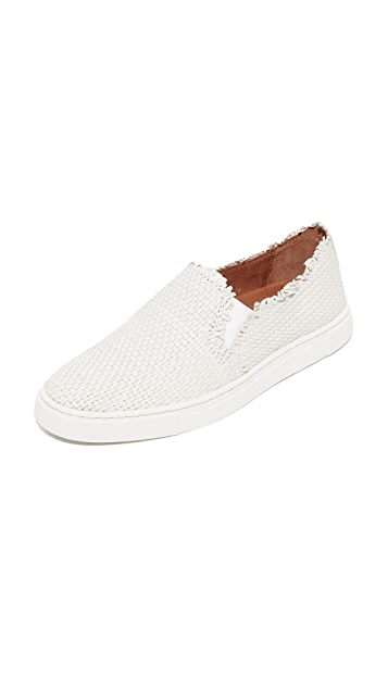 Frye Ivy Fray Woven Slip On Sneakers