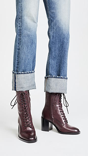 Frye Pia Heeled Combat Boots
