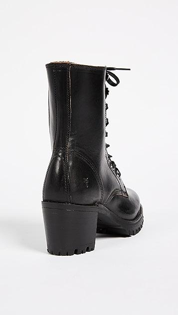 Frye Sabrina Combat Heeled Boots