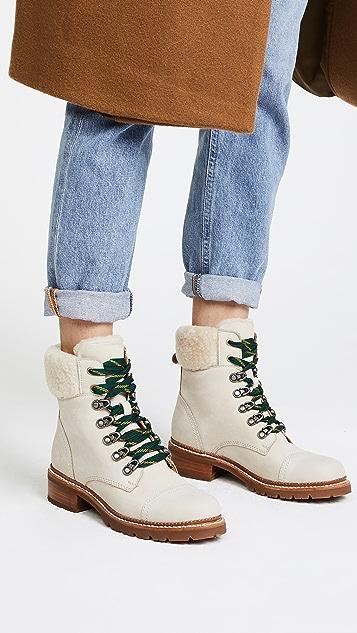 Frye Samantha Hiker Boots