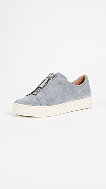 Frye Lena Zip Low Suede Sneakers - Jeans