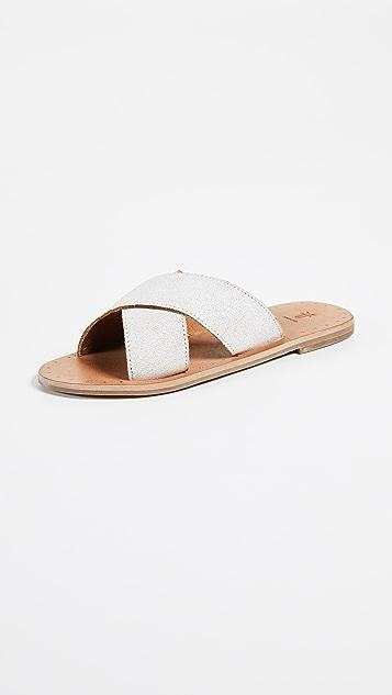 Frye Ally Crisscross Slides