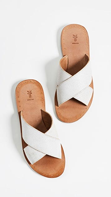 Ally Crisscross Slides by Frye
