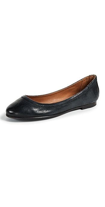 Frye Carson Ballet Flats - Black