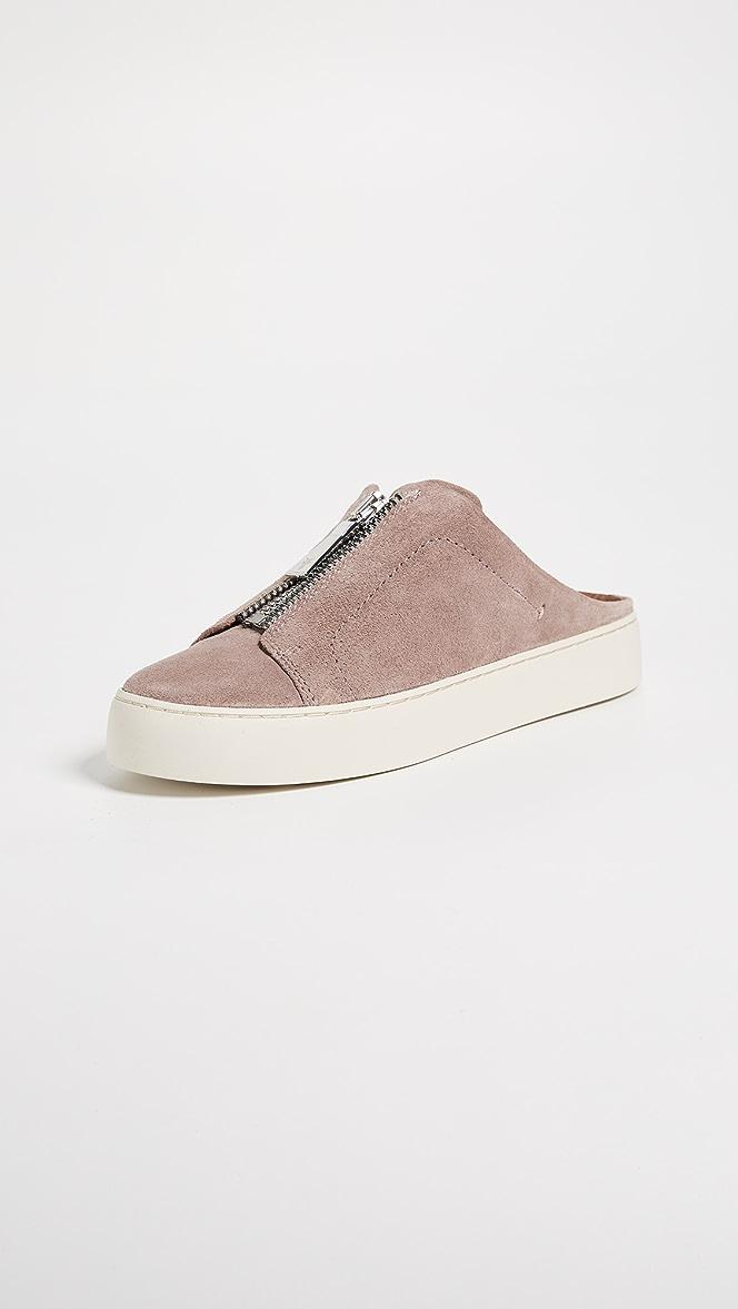 77ef135cb98f Frye Lena Zip Mule Suede Sneakers