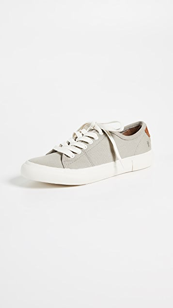 Frye Gia Canvas Low Lace Sneakers - Grey