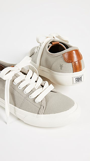 Frye Gia Canvas Low Lace Sneakers