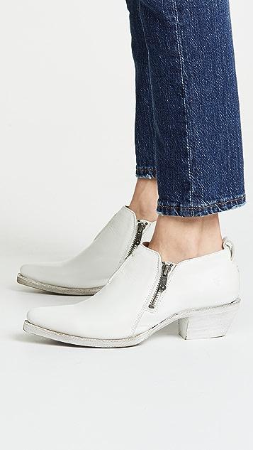 Frye Sacha Zip Shootie Boots