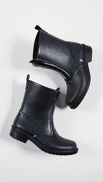 Frye Storm Zip Rain Booties