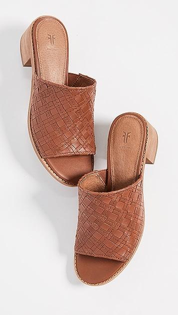 Frye Cindy 梭织穆勒鞋
