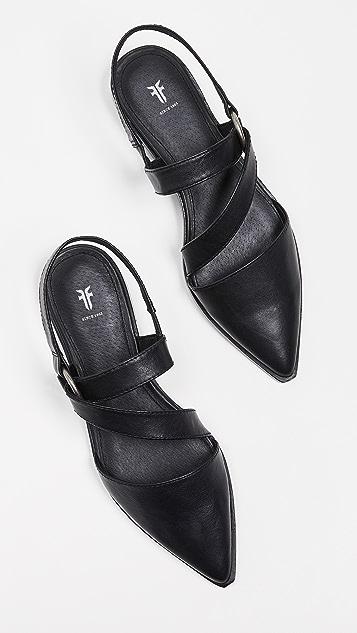 Frye Kenzie Strappy Harness Flats