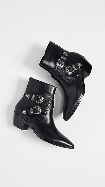 Frye Ellen Buckle Short Boots