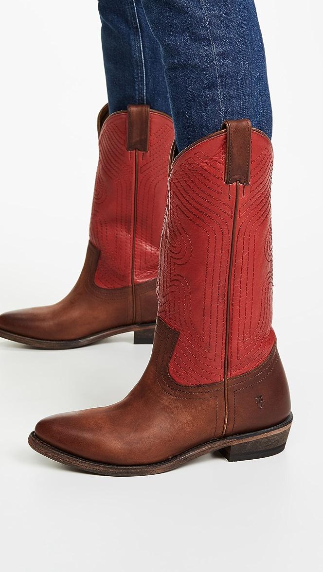 Frye Billy Stitch Pull On Boots | SHOPBOP