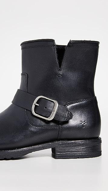 Frye Veronica 连毛羊皮短靴