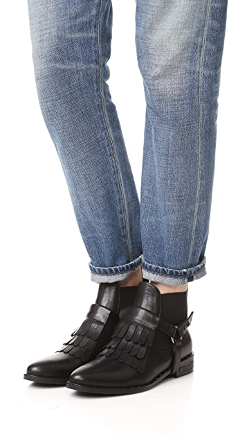Freda Salvador Fringe Chelsea Ankle Booties