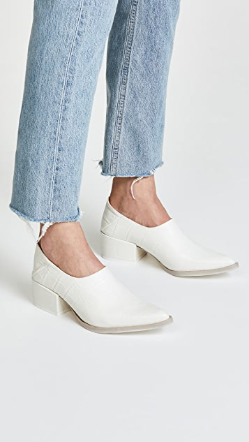 Freda Salvador Crescent Block Heel Booties