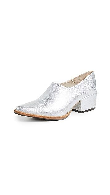 Freda Salvador Crescent Block Heel Booties