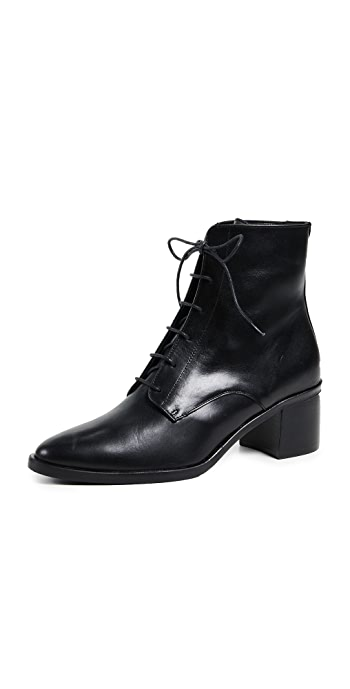 Freda Salvador The Ace Lace Up Booties - Black