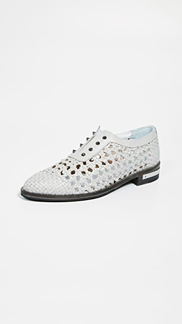 Freda Salvador Wish Handwoven Oxfords