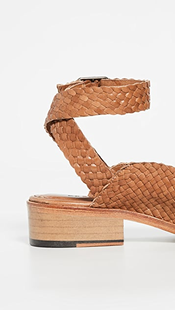 Freda Salvador The Marbella Woven Ankle Strap Sandals