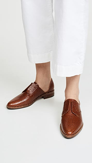 Freda Salvador Laceless D'Orsay Oxford Shoes