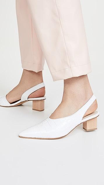 Freda Salvador Marigold Asymmetrical Mid Heel Pumps
