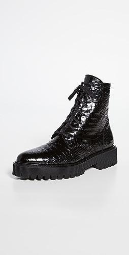 Freda Salvador - Emi Lug Sole Lace Up Boots