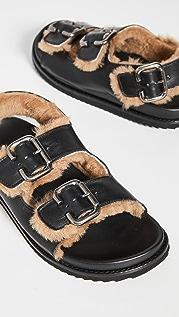 Freda Salvador Piper Shearling 凉鞋