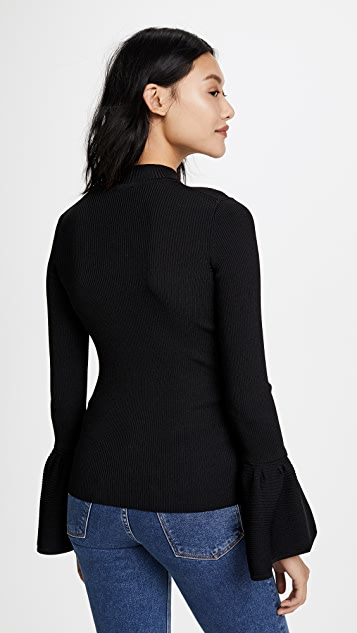 Fred and Sibel Wide Sleeve Rib Sweater