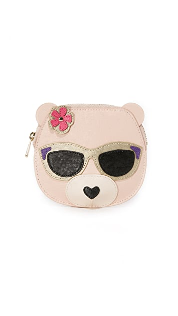 Furla Allegra Bear Coin Case