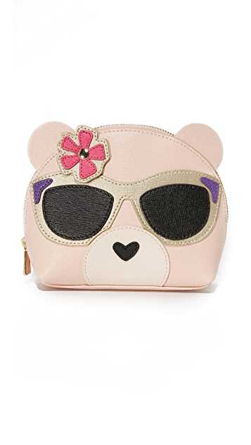 Furla Allegra Bear Cosmetic Case