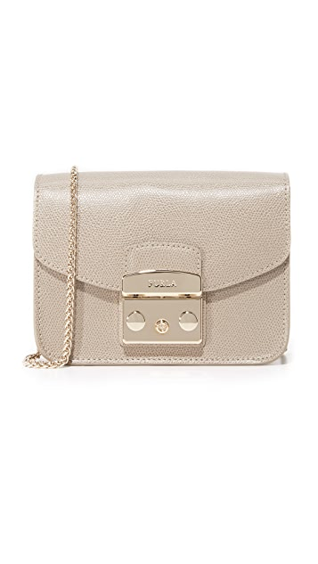 Furla Metropolis Mini Cross Body Bag - Sabbia