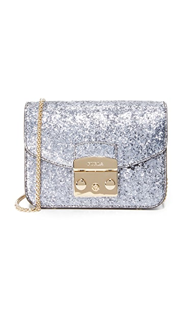 Furla Glitter Metropolis Mini Crossbody Bag
