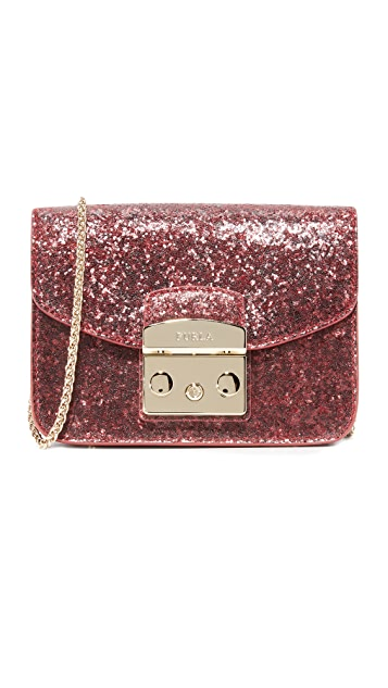 Furla Glitter Metropolis Mini Cross Body Bag