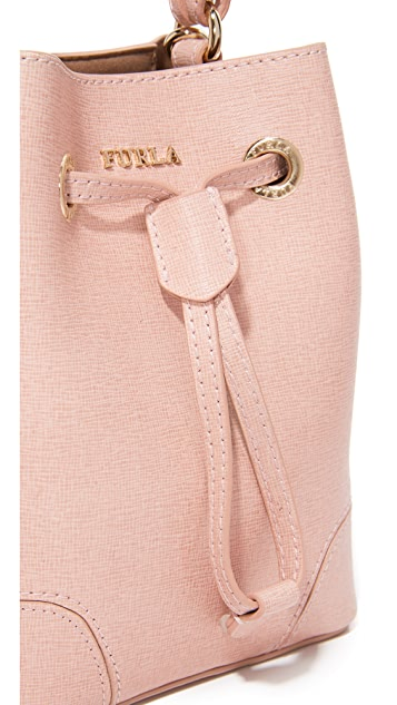 Furla Stacy Mini Drawstring Bucket Bag
