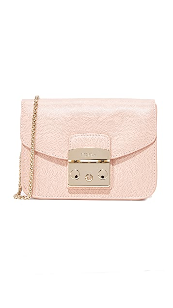 Furla Metropolis Mini Cross Body Bag - Moonstone