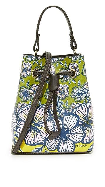 Furla Printed Stacy Mini Drawstring Bag