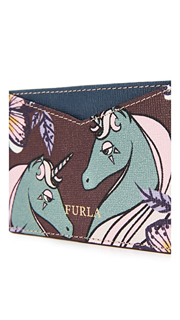 Furla Printed Gioia Card Holder