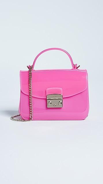 Furla Candy Meringa Mini Cross Body Bag - Fuscia