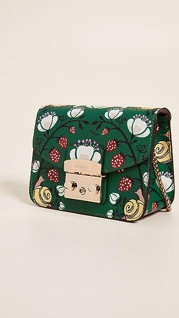 Furla Metropolis Mini Strawberry Cross Body Bag