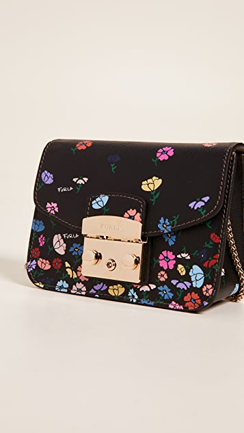 Furla Metropolis Mini Flower Cross Body Bag