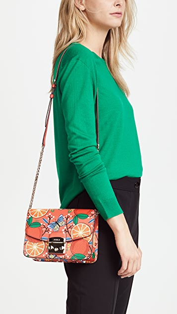 Furla Metropolis Small Orange Cross Body Bag