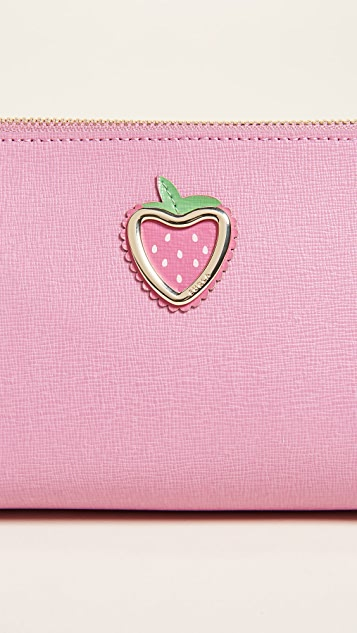 Furla Primizia Large Strawberry Cosmetic Case