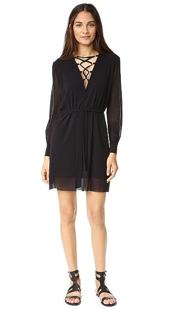 Fuzzi Laced V Neck Dress